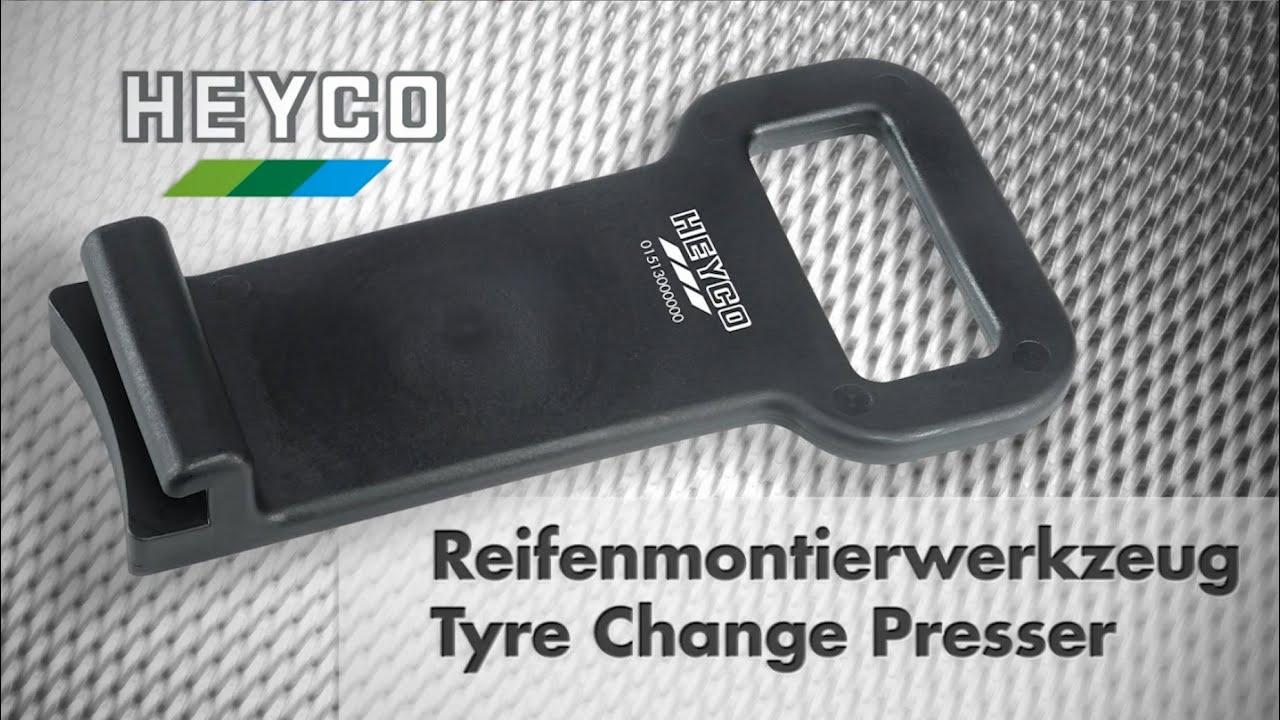 Видео: Инструмент за демонтиране на гуми на HEYCO