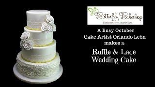 Making A Ruffle & Lace Wedding Cake