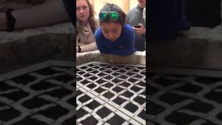 Girl sings hallelujah into a well