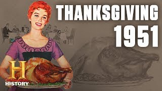 A Patriotic Thanksgiving in 1950s America | Flashback | History