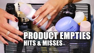 PRODUCT EMPTIES   Hits & Misses
