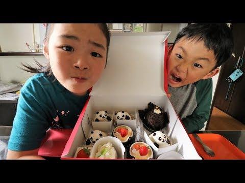 お誕生日ケーキを頂くRino&Yuuma