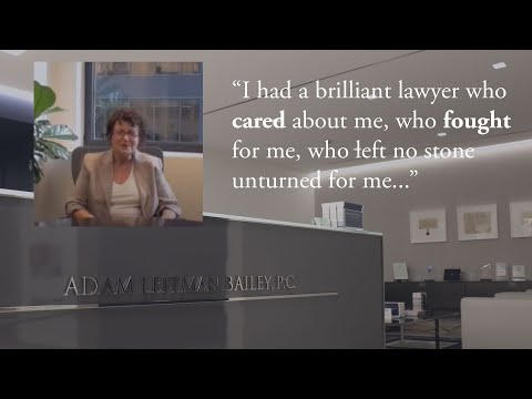 """""""I had a brilliant lawyer, Adam Bailey, who cared about me, who fought for me, who left no stone unturned for me."""" – L.R. testimonial video thumbnail"""