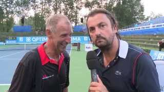 henri leconte interviews thomas muster at optima open - Abschiedsrede Muster
