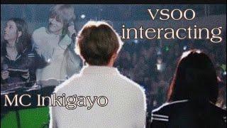 V & Jisoo ALL MOMENTS interacting in Inkigayo [VSOO]