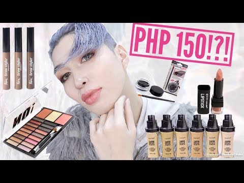 FULL FACE USING PRODUCTS UNDER 150PHP! (MY DOLLAR STORE)