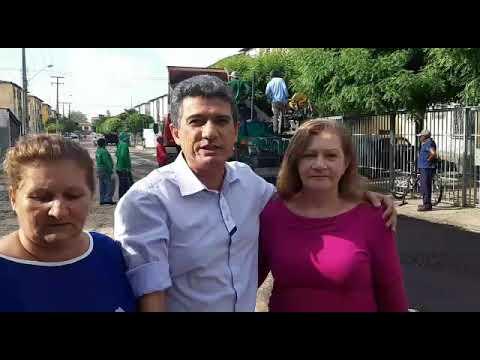 Vereador Caio Bucar acompanha asfaltamento do Morada Nova