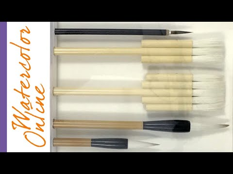 MY BRUSHES! WATERCOLOR Brush GUIDE, Part 2 - With Practical Application Techniques