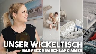 Unser Wickeltisch I Babyecke im Schlafzimmer I Mellis Blog