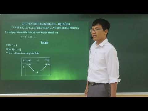 Chuyên đề Hàm số bậc hai -đại số lớp 10, GV dạy trường THPT Trung Sơn