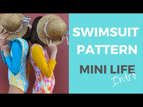 Kids Swimsuit pattern Mini LIFE Intro by Bikini Design Club