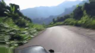 preview picture of video 'Bicycle descent with emergency stop near Gorontalo'