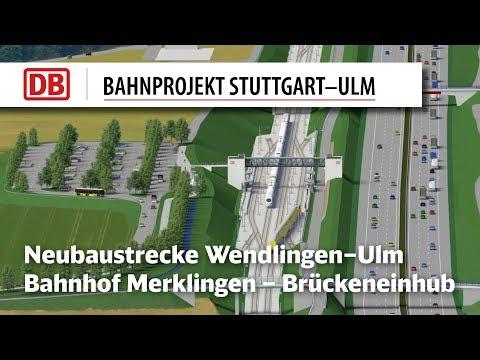 Bahnhof Merklingen - Brückeneinhub