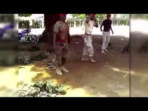 Nigerian Soldiers Abusing Cadets