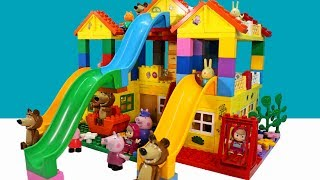 Peppa Pig Blocks Mega House LEGO Creations Sets With Masha And The Bear Legos Toys For Kids #18