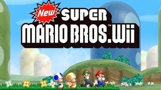 New Super Mario Bros. Wii Walkthrough - Worlds 1 - 9 Full Game (100%)