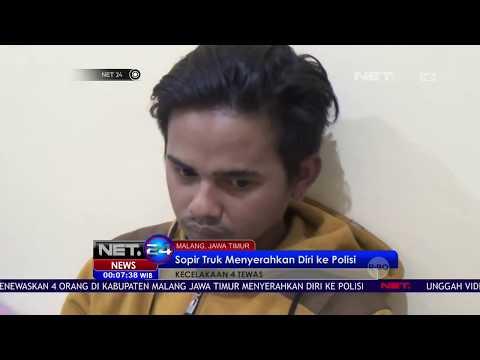 Sopir Truk Penyebab Kecelakaan di Malang, Jawa Timur Menyerahkan Diri NET 24