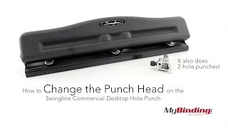 How to Change the Punch Head on the Swingline Commercial Desktop Hole Punch