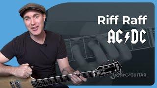 Riff Raff - AC/DC - Rock Guitar Lesson Tutorial (ST-333) Angus, Malcolm