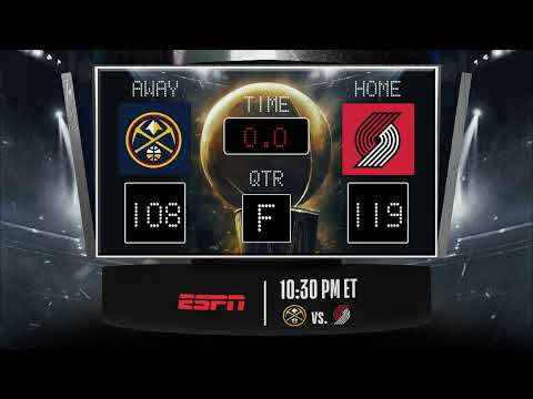 Nuggets @ Trail Blazers LIVE Scoreboard – Join the conversation & catch all the action on ESPN!