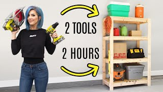 EASY DIY Garage Shelves | FREE BUILDING PLANS!