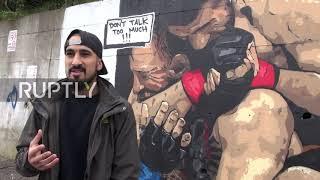 Turkey: 'Don't Talk Too Much '  Turkish Graffiti Artist Paints Khabib's Victory Over McGregor