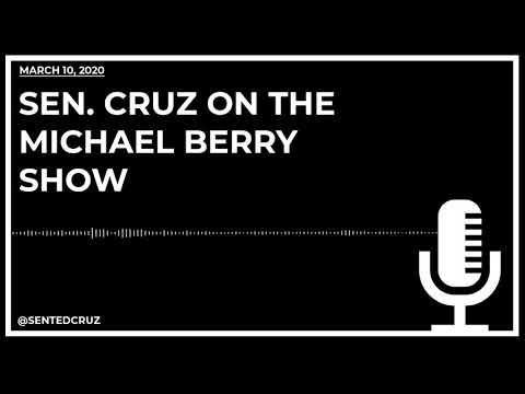 Cruz on The Michael Berry Show Discusses COVID-19, Self-Quarantine