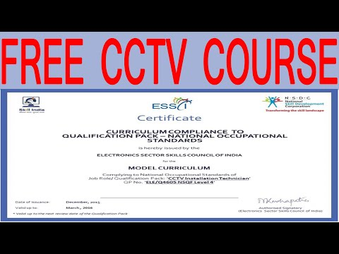 How to Learn CCTV Training Course Free of Cost Full Description ...
