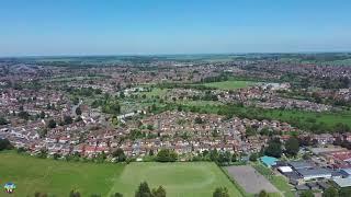2020 Fimi x8 SE Flight over Beautiful City, waypoint setting 1km radius point of interest setting