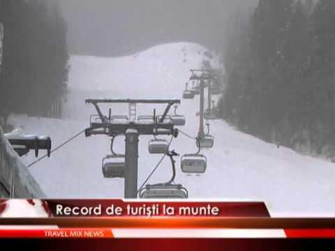 Record de turisti la munte