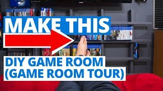 DIY Game Room Tour To Show Off My Cool Video Game Stuff