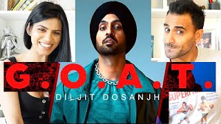 DILJIT DOSANJH - G.O.A.T. (Official Music Video) REACTION!!!