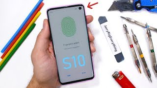 Samsung Galaxy S10 Durability Test - Ultrasonic Fingerprint Scratched?