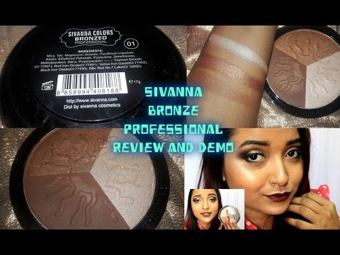 Sivanna Bronze Professional Review & Demo| Affordable Bronzer & Highlighter