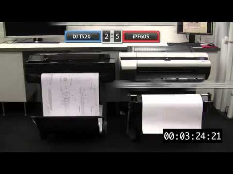 HP Designjet T520 vs Canon iPF605
