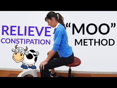 """Natural Constipation Relief in 3 Easy Steps (""""MOO to POO"""")"""