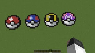 minecraft pixel art pokeball