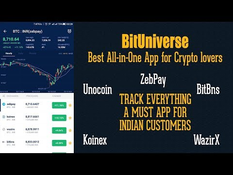 BitUniverse App The Best ZebPay Koinex Unocoin Crypto Portfolio Tracker Review & Tutorial in HINDI.