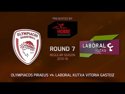 Highlights: RS Round 7, Olympiacos Piraeus 59-52 Laboral Kutxa Vitoria Gasteiz