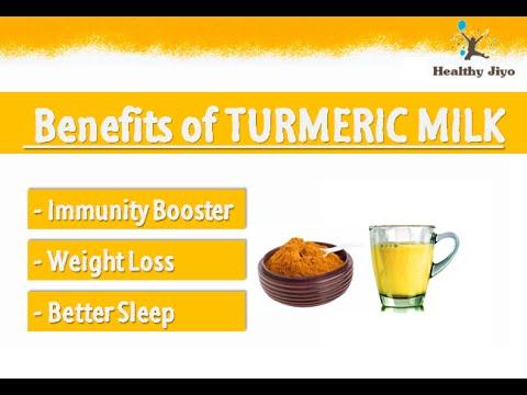 Video BENEFITS OF TURMERIC MILK - GOLDEN MILK BENEFITS - TURMERIC MILK for WEIGHT LOSS