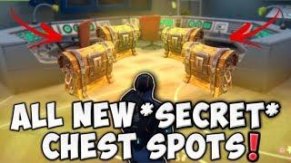 ALL NEW *SECRET CHEST SPOTS* IN NEW MAP UPDATE!! DUSTY DIVOT & MORE!! (Fortnite Battle Royale)