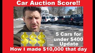 How I made $10,000 at a Car Auction - $400 Car follow up - Flying Wheels