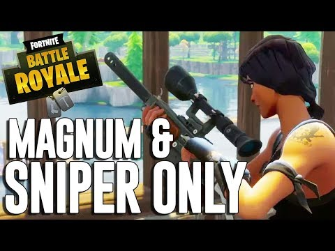 Magnum and Snipers Only!! Fortnite Battle Royale Gameplay - Ninja