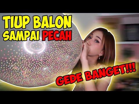 CHALLENGE TIUP BALON TERBESAR SAMPE PECAH !! SUARANYA KAYAK BOOM!! || Marisha Chacha