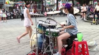 2014/05/17 爵士鼓 羅仕茹(羅小白)_原唱洪榮宏 - 望月想愛人