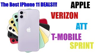 The Best Deals for the iPhone 11/11 pro/11 pro max!!!| Verizon| Att| T-mobile| Sprint