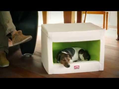 Hundehöhle aus Kunstleder: Die Original Dog Rooflounge von Dogstyler