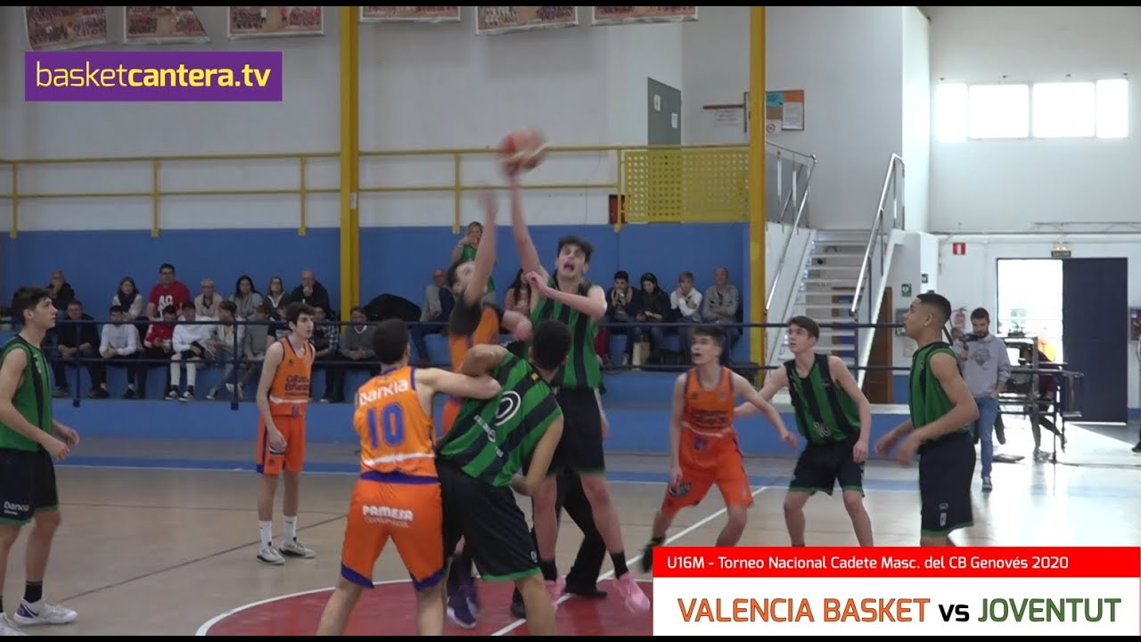 U16M - VALENCIA vs JOVENTUT de Badalona.- Torneo Cadete Masc. CB Genovés 2020 (BasketCantera.TV)