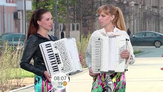 "Дуэт ""ЛюбАня"" на Первом канале ""Доброе утро"""