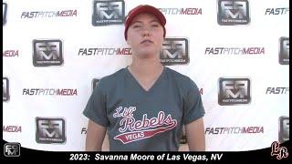 2023 Savannah Moore Speedy Outfield and Shortstop Softball Skills Video - Lil Rebels